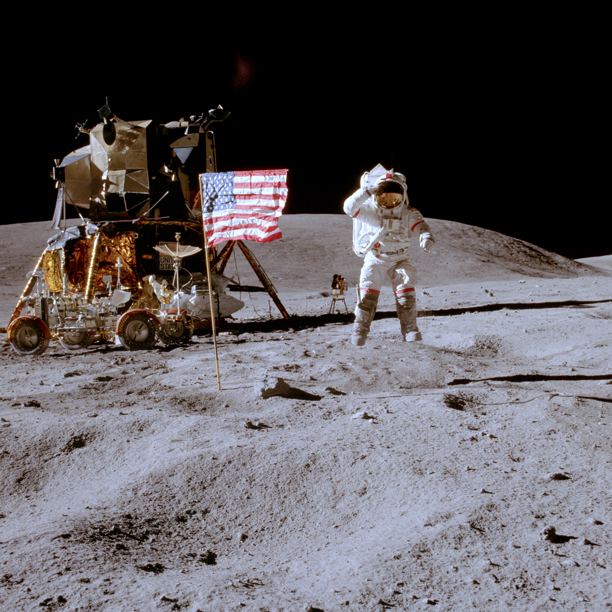 Apollo Moon Flags Still Standing | Solar System ...