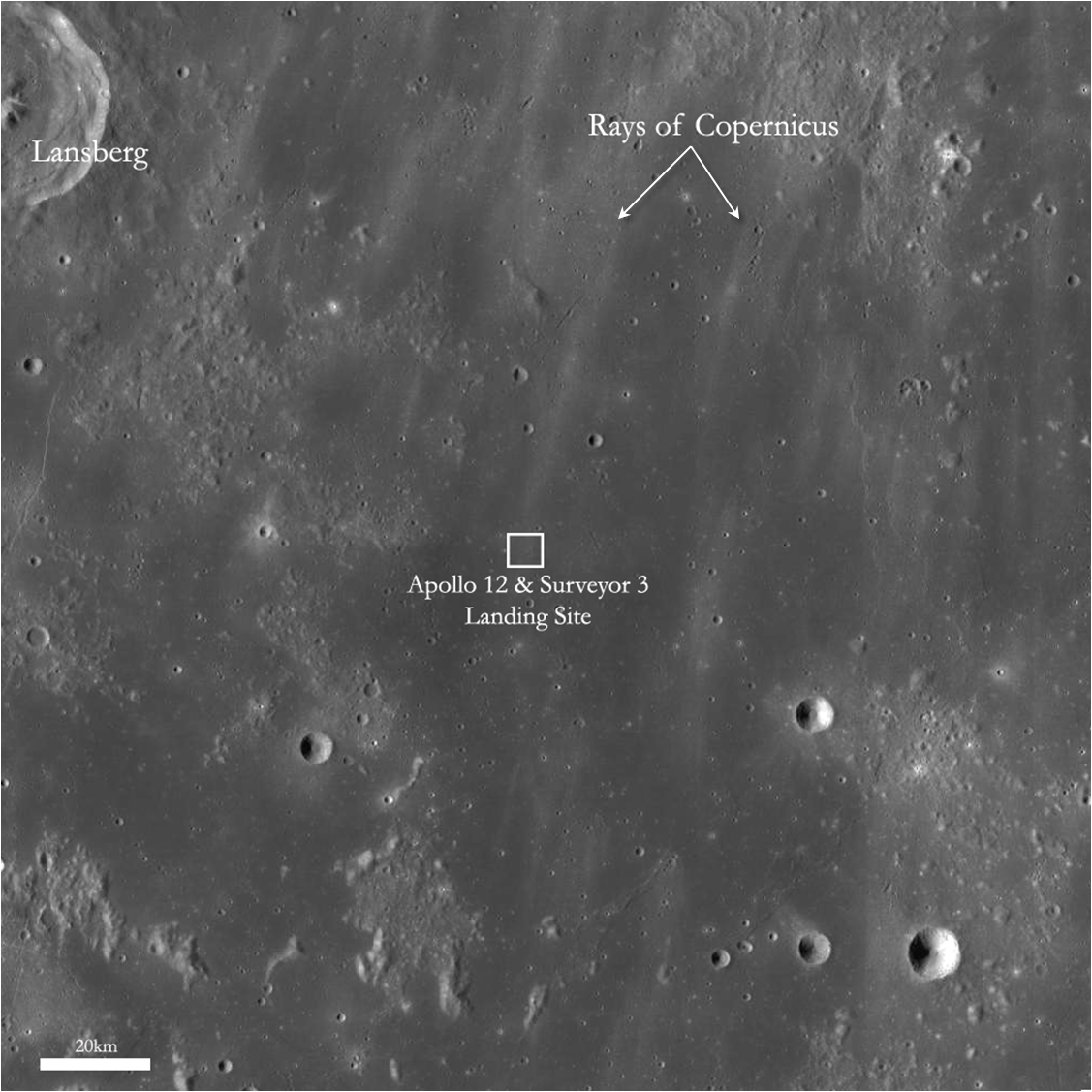 location moon map landing site apollo 12 - photo #21